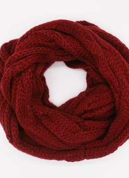 Burgandy Winter Knit Infinity Scarf