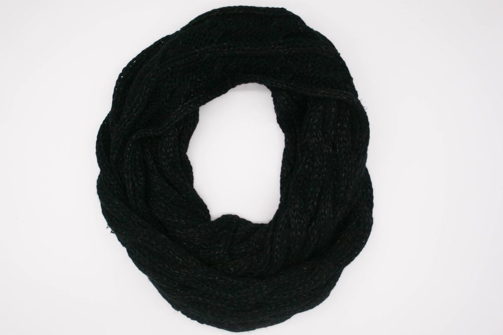 Black/Silver Metalic Infinity Scarf