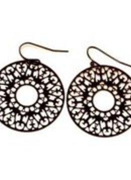 Black Filigree Earrings