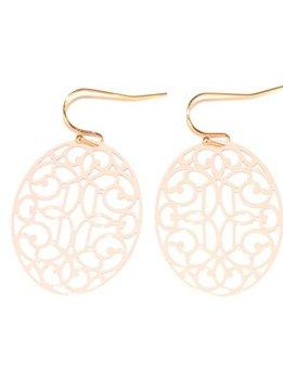 Light Pink Filigree Earrings