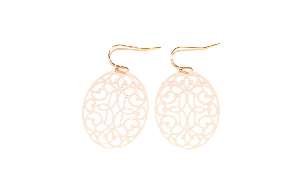 Light Pink Filigree Earrings