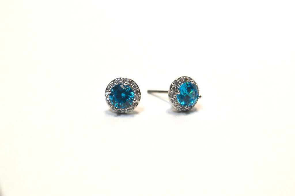 Premium CZ Birthstone Earrings-December - It\'s a Bling Thing