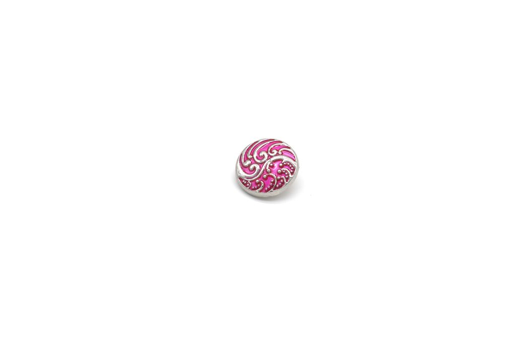 Pink Wave Snap Button