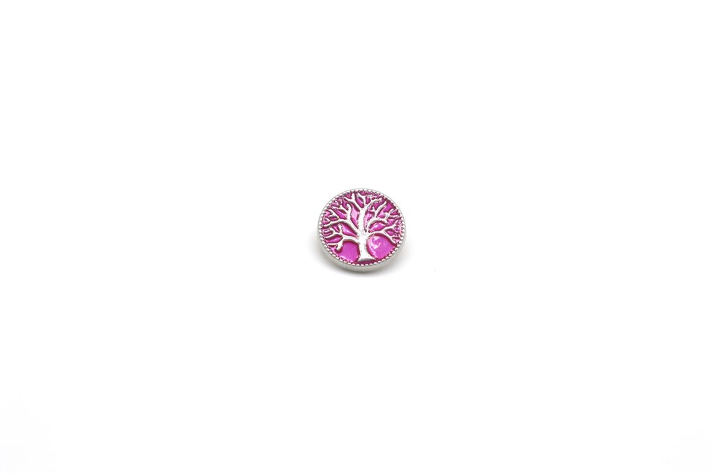 Pink Tree of Life Snap Button