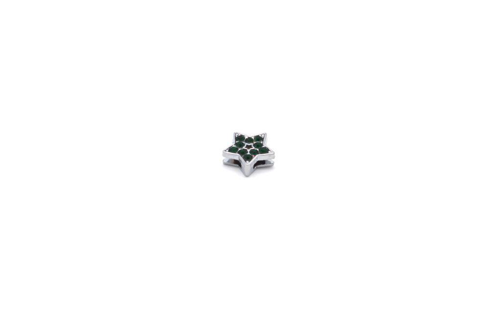 Dark Green Star Charm