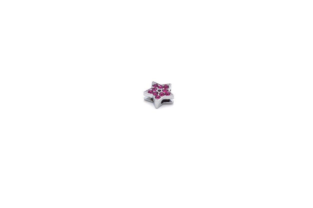 Dark Pink Star Charm