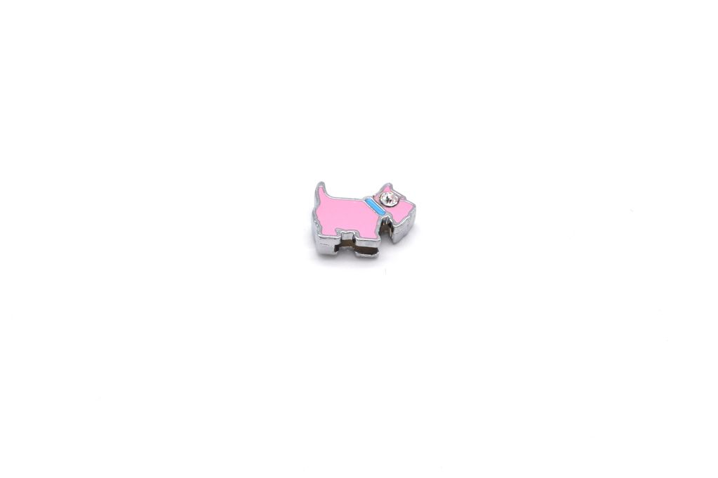Pink Dog Charm