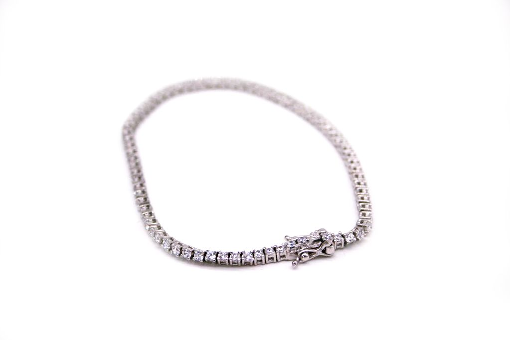 Sterling Silver and Cubic Zironcium Tennis Bracelet