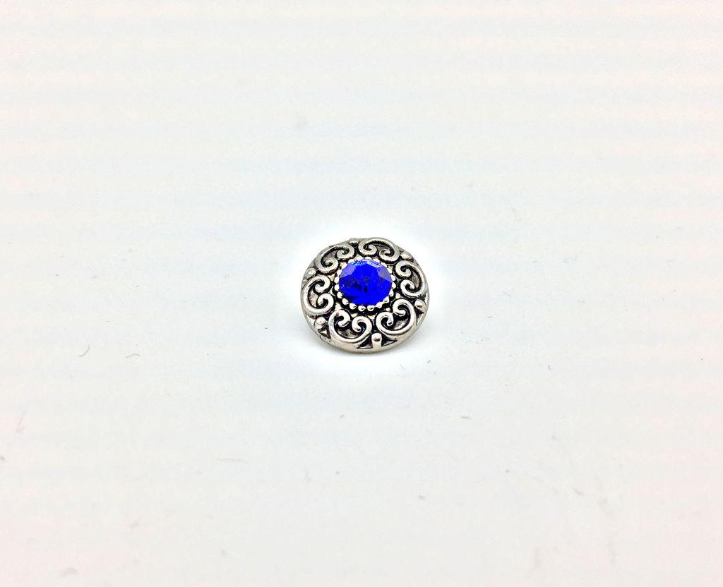 Blue Centered 12mm Snap Button