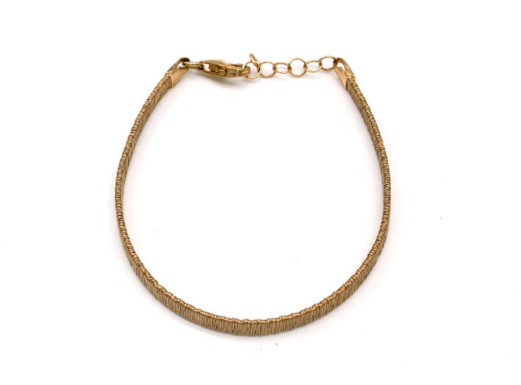 Gold Stripped Bracelet