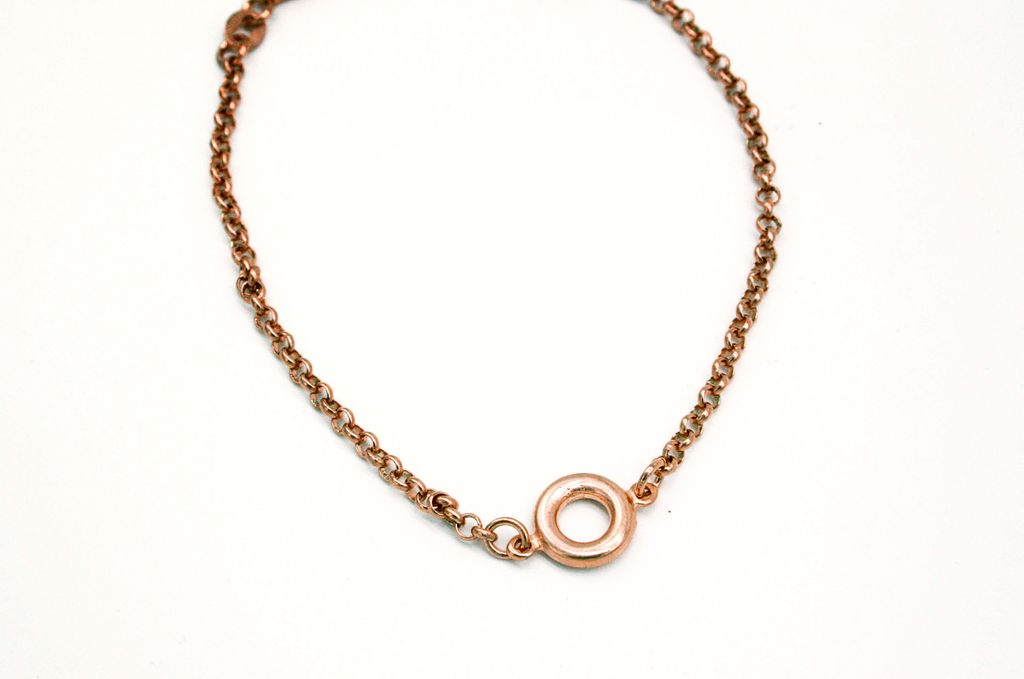 Rose Gold Sterling Silver Bracelet Chain