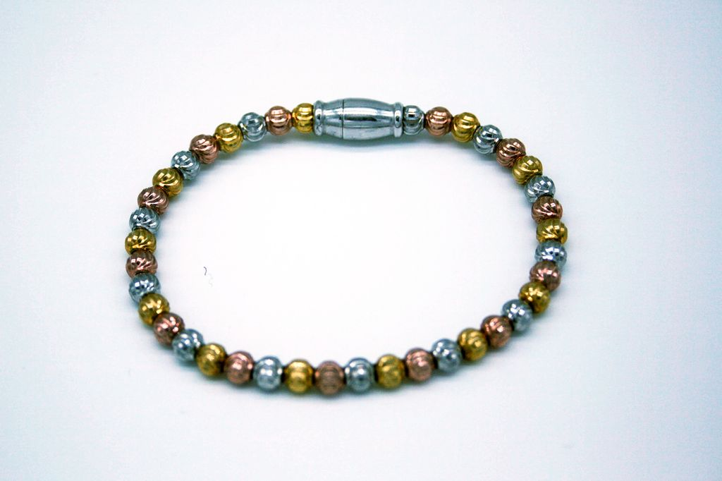 Silver and Gold Sterling Silver Bracelet