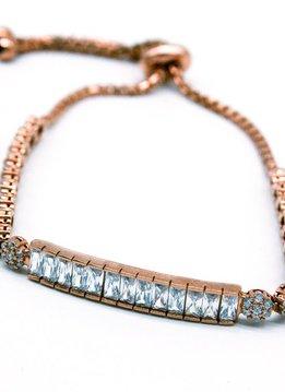 Rose Gold Sterling Silver Bar Bracelet