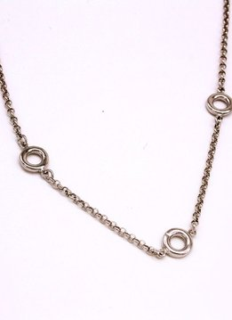 Three Ring Silver Necklace