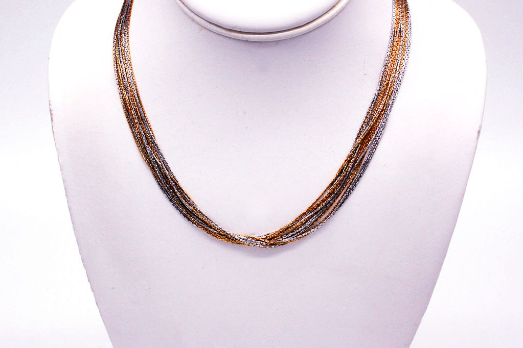 Rose Gold and Silver Multi Chain Necklace