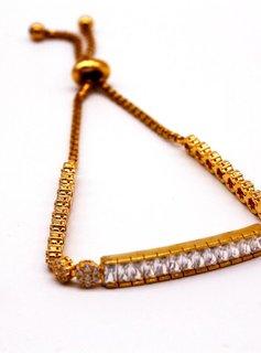 Shimmering Gold Bar Bracelet