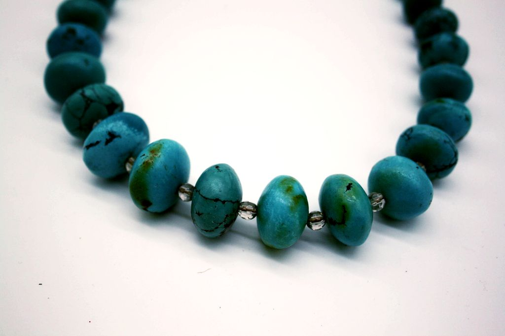 African Turquoise and Smoky Quartz