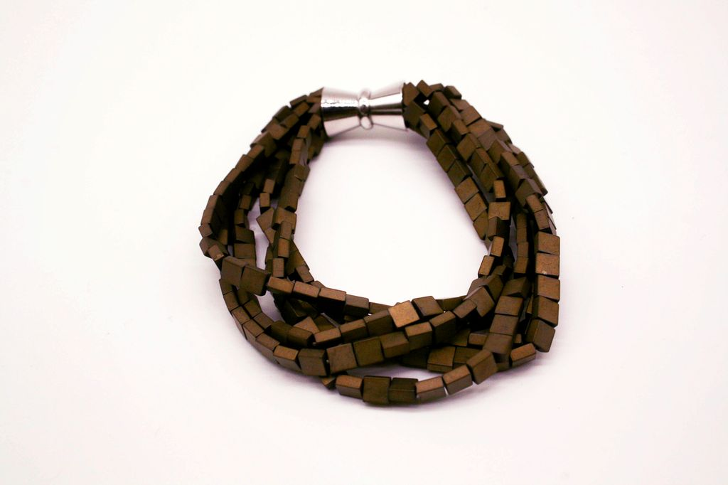 Brown Hematite Magnetic Bracelet