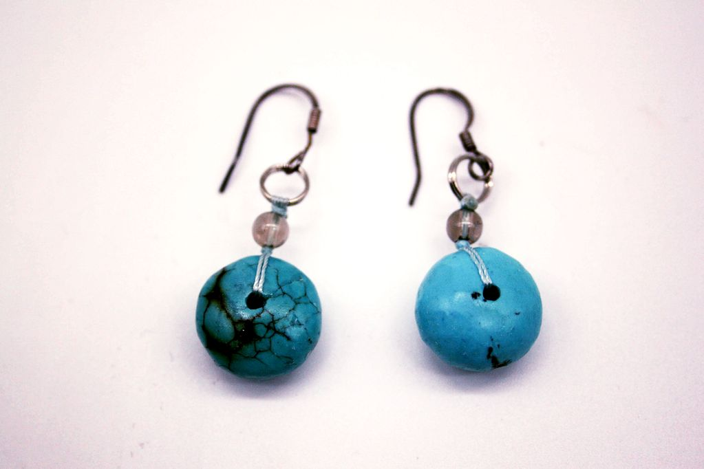 Sterling Silver African Tourquoise Earrings