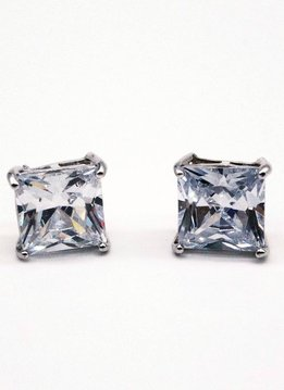 10mm Sterling Silver CZ Stud