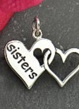 Sterling Sisters Charm