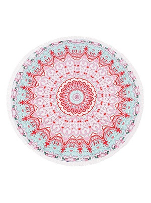 Rounded Red Beach Towel
