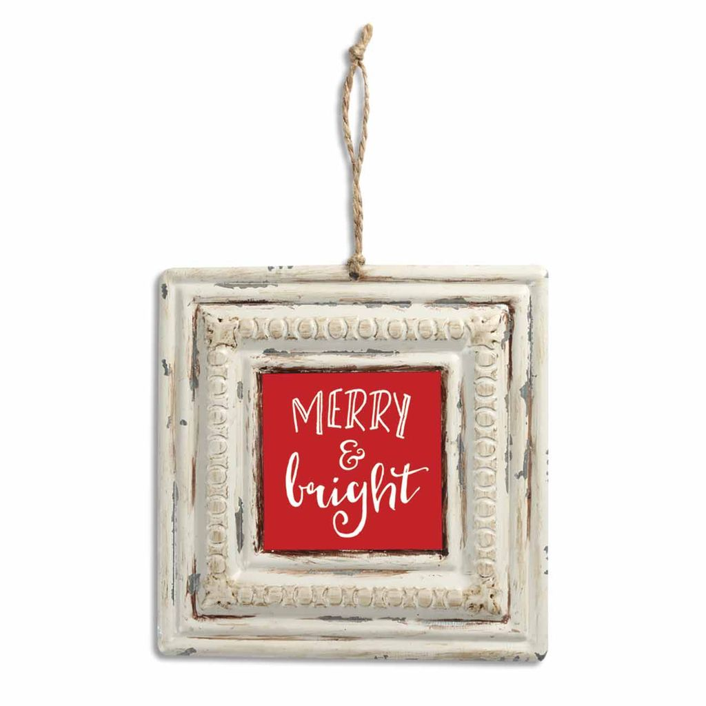 Merry & Bright Vintage Tin Sign