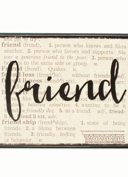 Friend Dictionary Box Sign