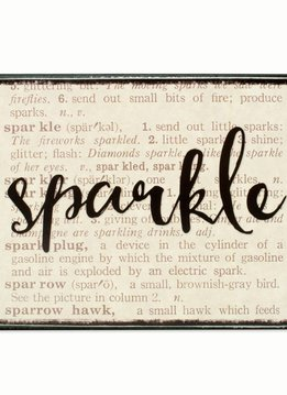 Sparkle DIctionary Box Sign