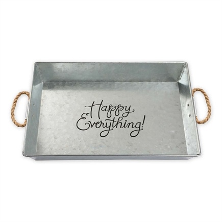 Happy Everything Large Metal Serving Tray