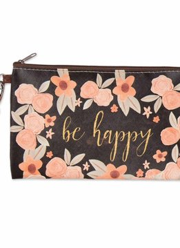 Be Happy Zippered Bag