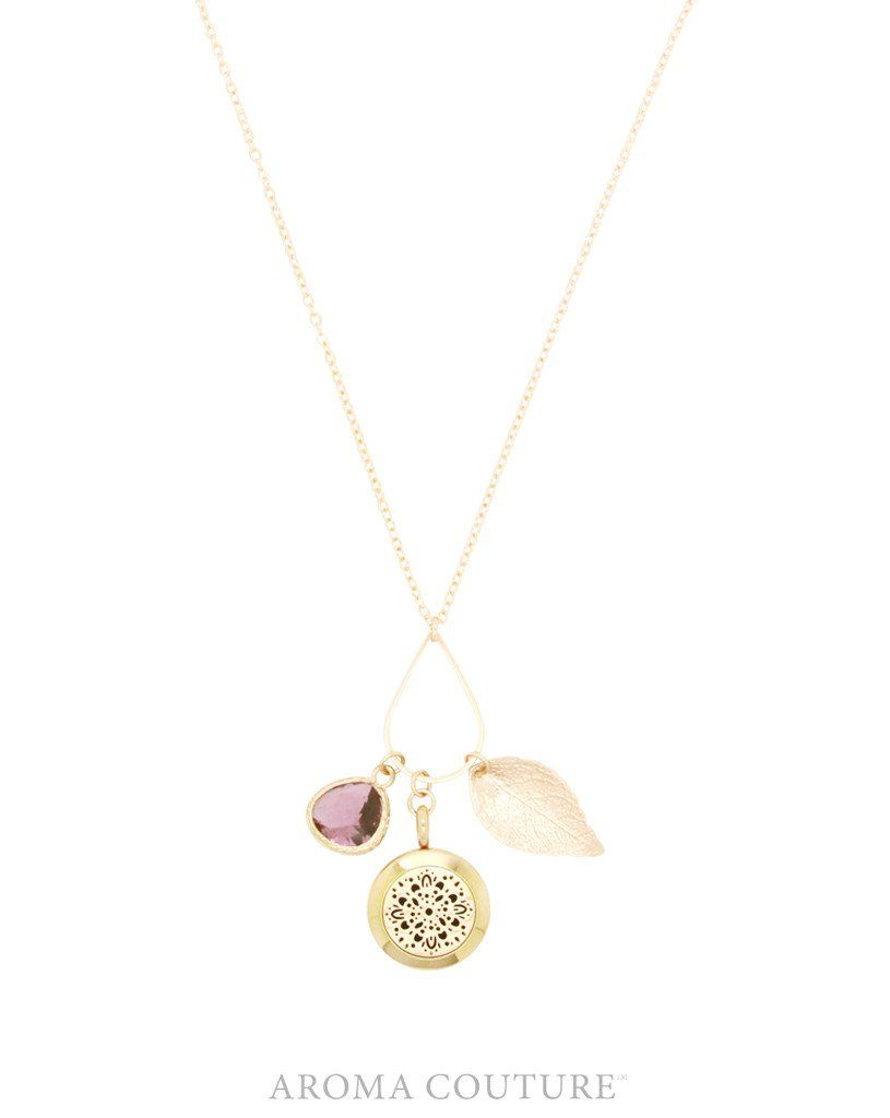 Rania Diffuser Necklace Rose Gold 24""