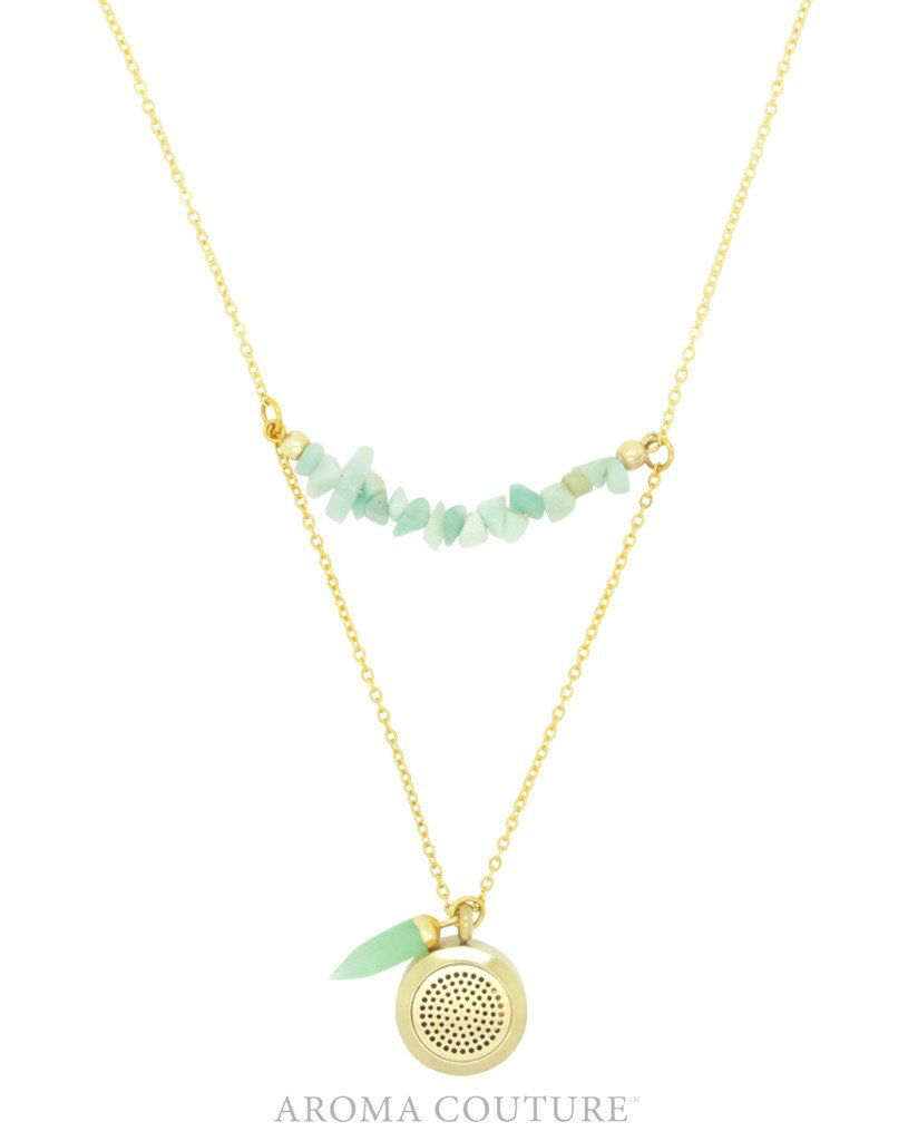 "24"" Adeline Amazonite Diffuser Necklace"