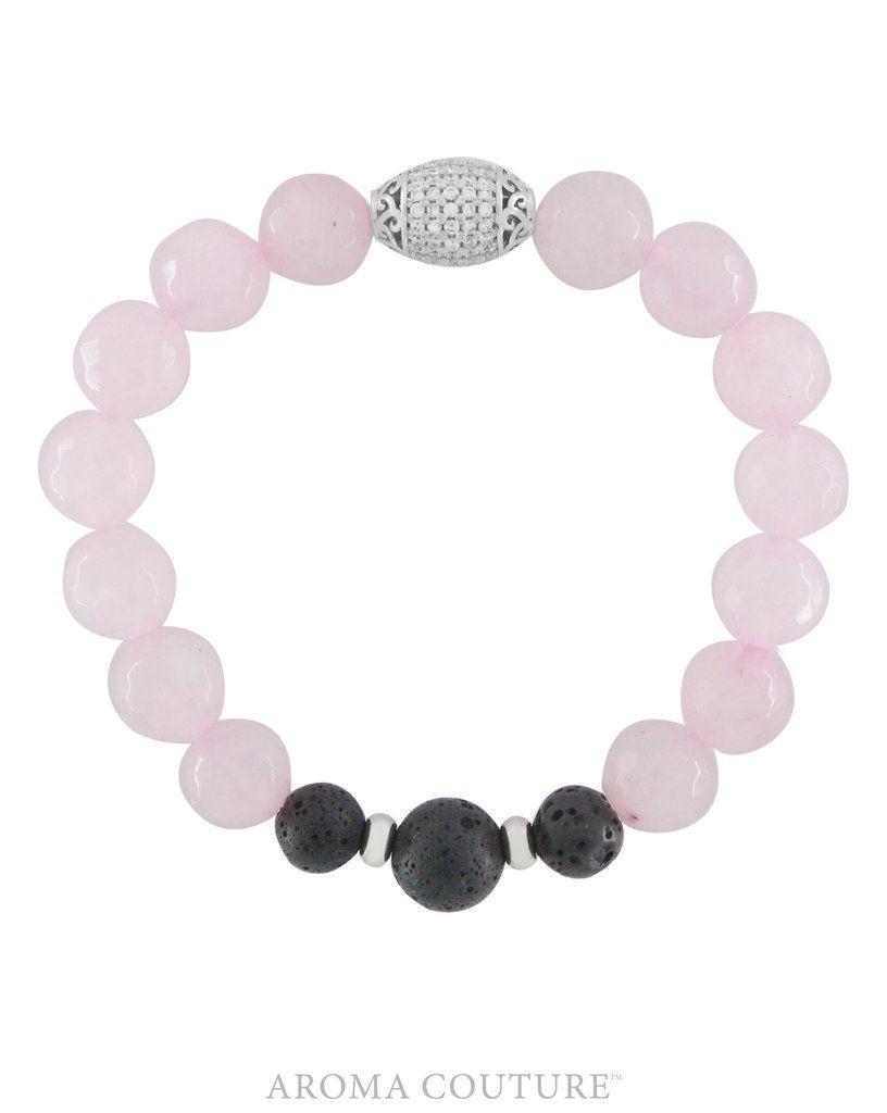 Rose Quartz/Lava Diffuser Bracelet Medium/Large