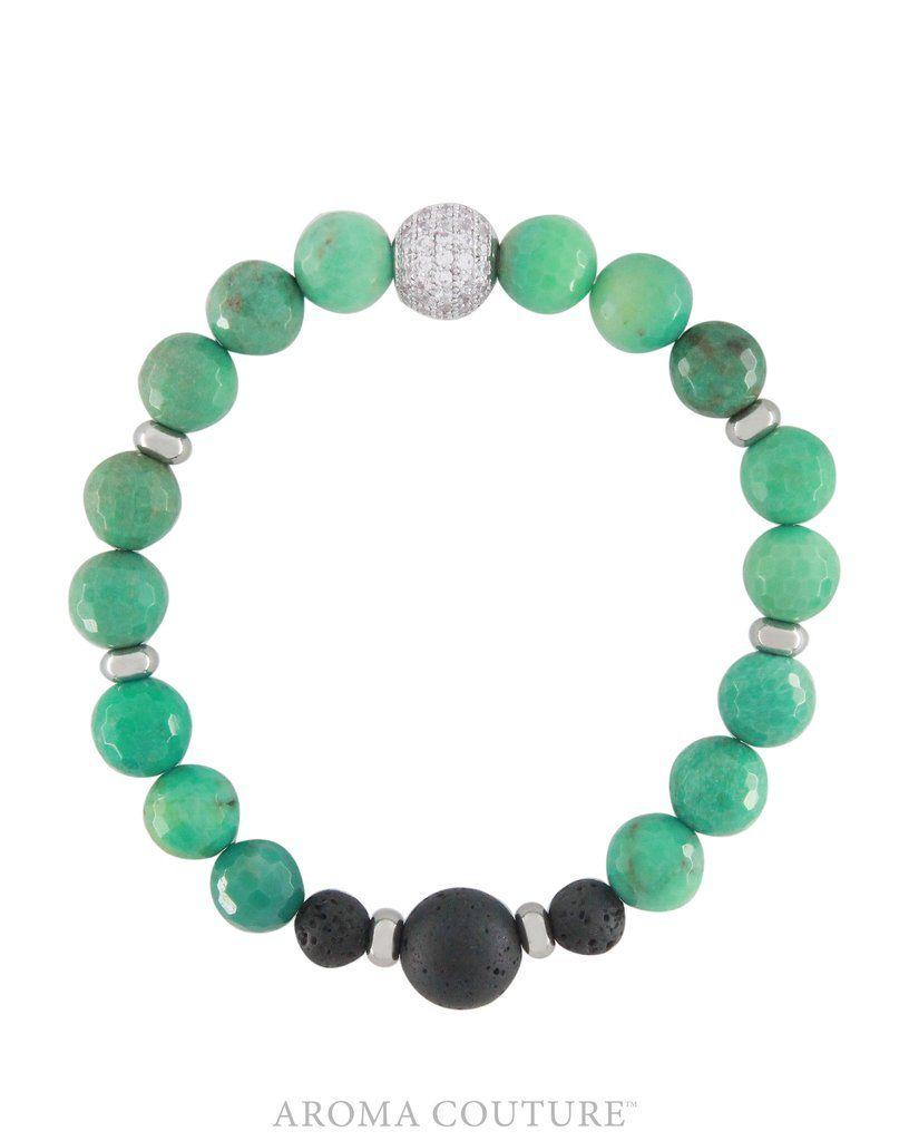 Chrysoprase Lava Diffuser Bracelet Small