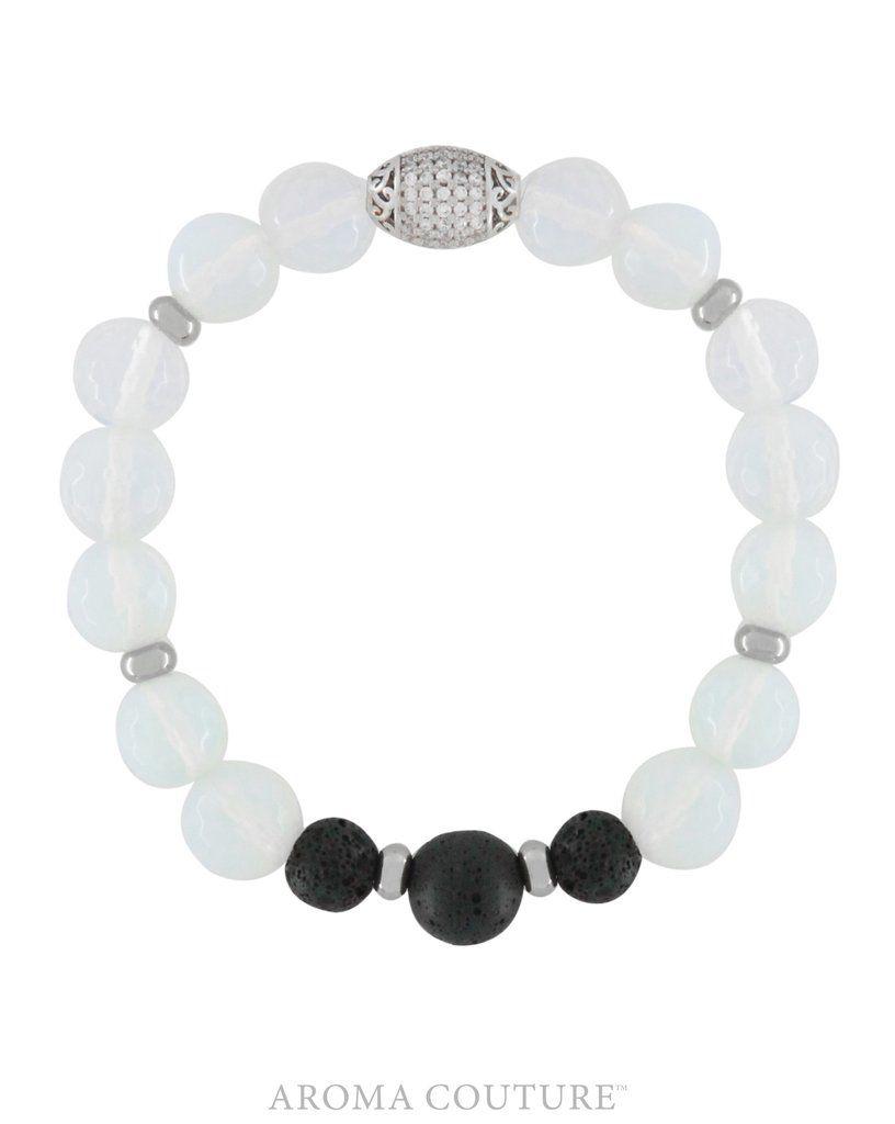 Opalite/Lava Diffuser Bracelet Medium/Large