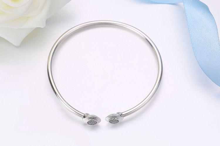 Complete Sterling Silver Cubic Zirconia Bangle Bracelet