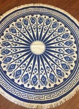 Blue and White Mandala Towel