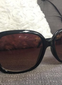 Wide Lens Black Sunglasses with Bling