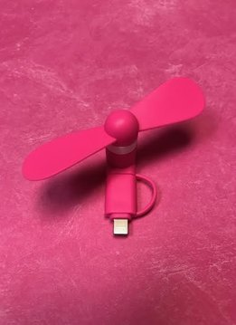 Pink Cell Phone Fan