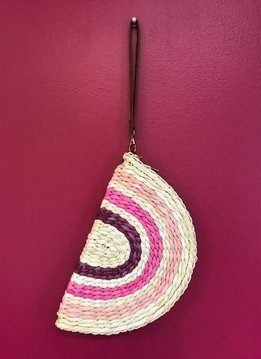 Shades of Pink Woven Wristlet