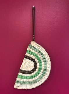 Shades of Green Woven Wristlet