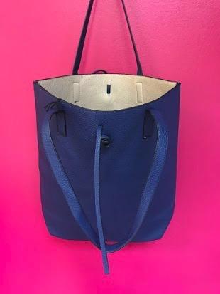 Beach Tote Bag in Navy Blue