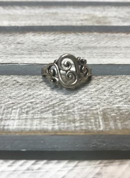 Sterling Silver Swirl Ring, Size 8