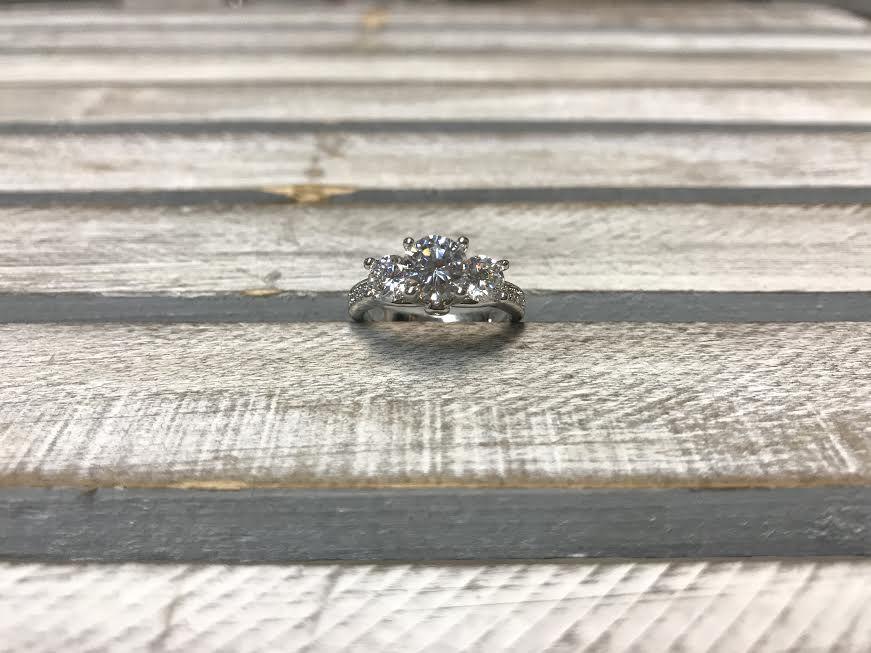 Elizabeth CZ Engagement Ring