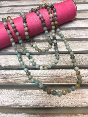 Handmade Amazonite Bead Wrap Necklace