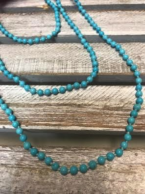 Handmade Small Turquoise Bead Wrap Necklace