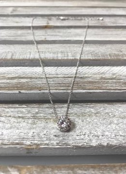 April Halo Birthstone Necklace