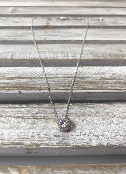 April Halo Birthstone Necklace