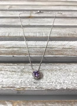 February Birthstone Necklace